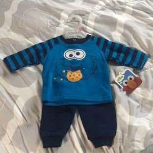 Cookie Monster NWT Set 0-3m